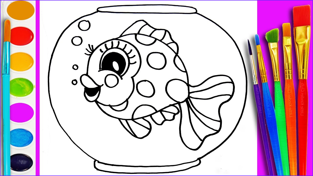 Paint Coloring Pages Beautiful Photos How To Draw Gold Fish Coloring Page Cute Fishes For Kids