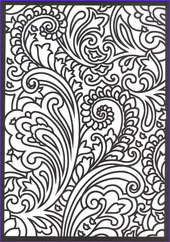 Paisley Coloring Book Beautiful Collection Paisley Coloring Pages Free Google Search