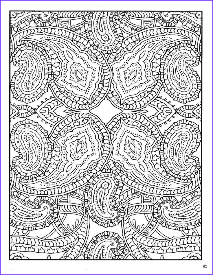 abstract zentangles paisley etc to color