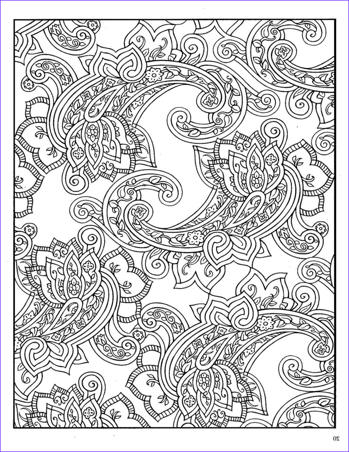 Paisley Coloring Book Best Of Collection Dover Paisley Designs Coloring Book