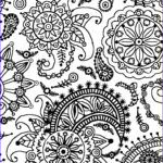 Paisley Coloring Book Best Of Image Coloring Page World Paisley Flower Pattern Portrait