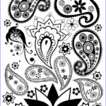 Paisley Coloring Book Elegant Collection Free Paisley Coloring Page