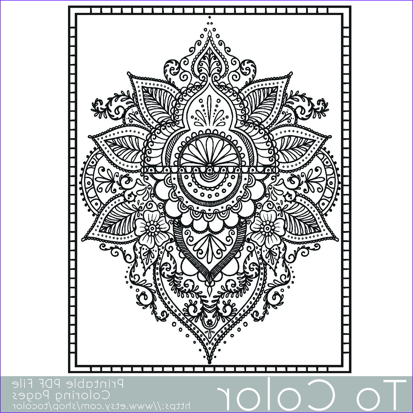 paisley printable coloring pages for