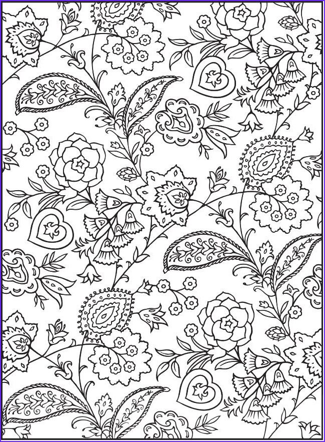 """Paisley Coloring Books Inspirational Collection From """"creative Haven Paisley Design Collection Coloring"""