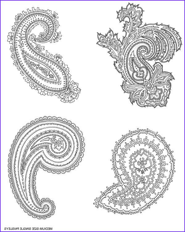 Paisley Coloring Books Inspirational Gallery Floral Folk and Paisley Designs Cd Rom and Book Dover