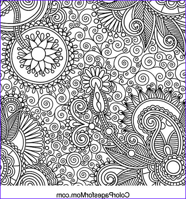 Paisley Coloring Books Unique Collection Paisley Coloring Page Adults Can Color too
