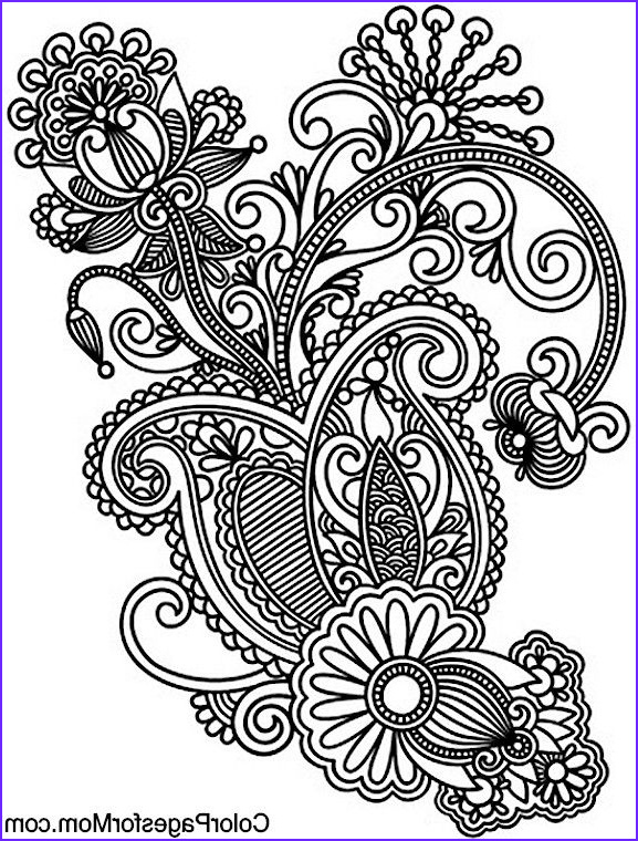 Paisleys Coloring Book Awesome Collection Paisley Coloring Page 40 Coloring Paisley