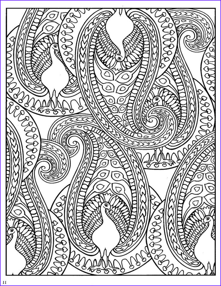 Paisleys Coloring Book Awesome Photos Paisley Design Coloring Pages Animals