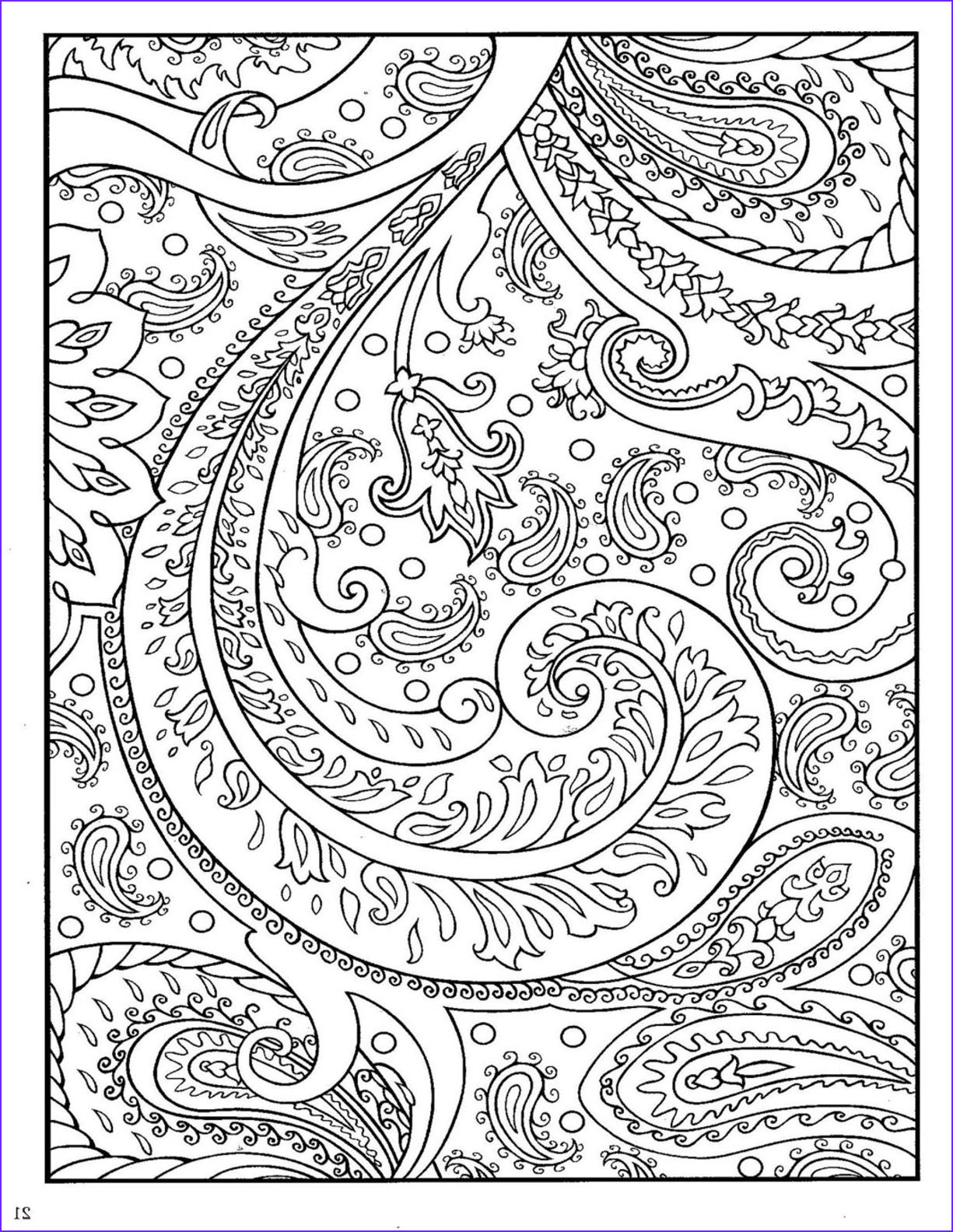 Paisleys Coloring Book Beautiful Stock Paisley Coloring Pages