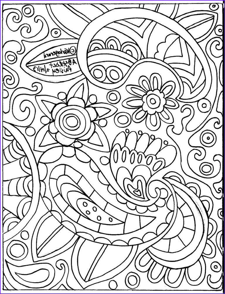 Paisleys Coloring Book Inspirational Photos Rug Hooking Paper Pattern Abstract Paisley Folk Art Unique