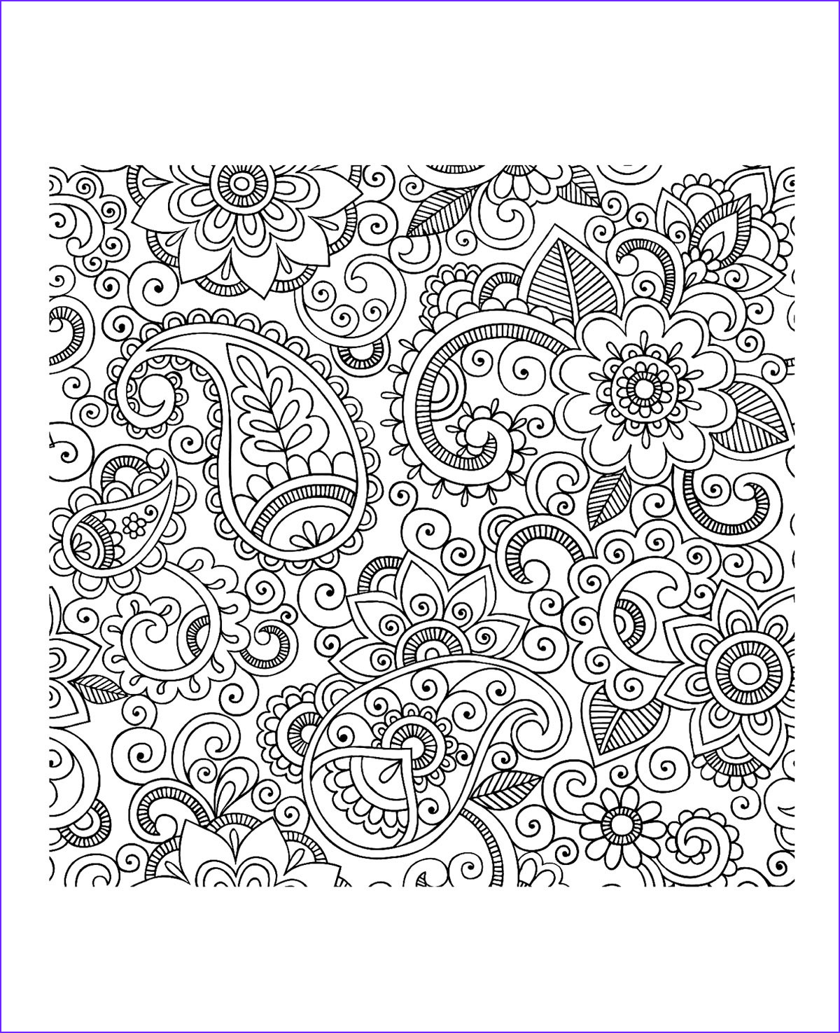 Paisleys Coloring Book Luxury Collection Paisley Coloring Pages for Adults