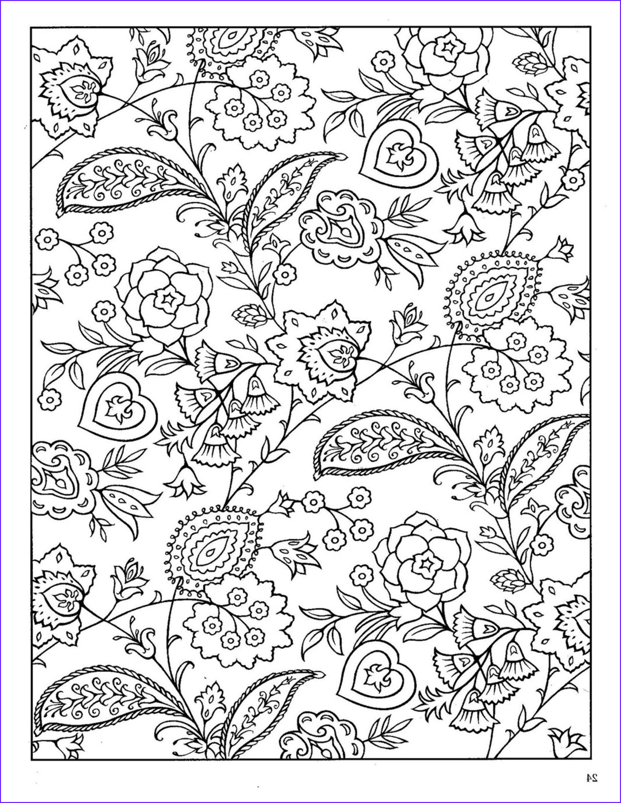 Paisleys Coloring Book New Image Dover Paisley Designs Coloring Book
