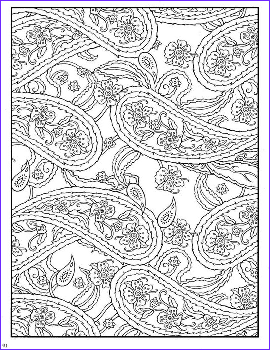 Paisleys Coloring Book Unique Gallery Paisley Coloring Pages