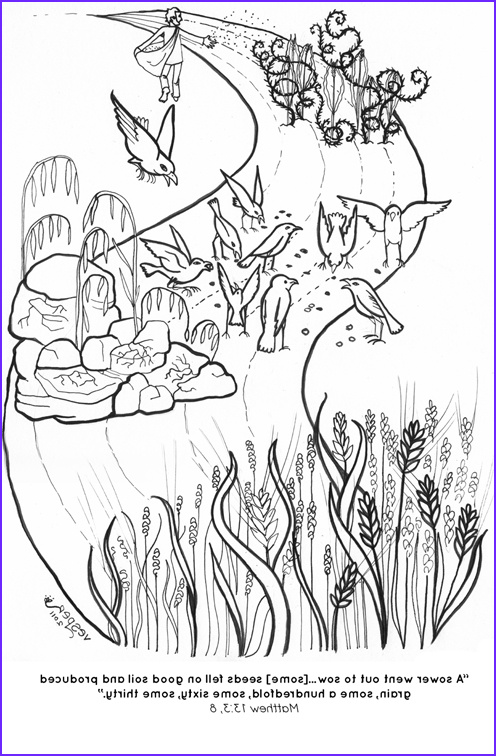 Parable Of the sower Coloring Page Awesome Gallery Prepare for Lent Make Yourself Good soil