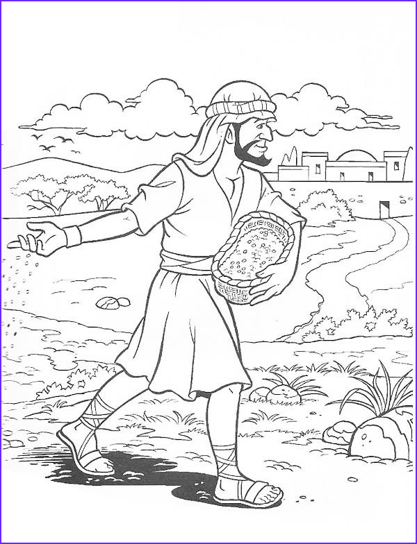 Parable Of the sower Coloring Page Awesome Image Parable Of the soils sower sows the Seed