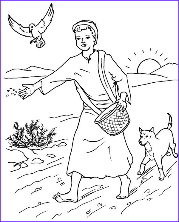Parable Of the sower Coloring Page Best Of Photos Parable Of the sower Farmer Scattered Seed Among Thorns