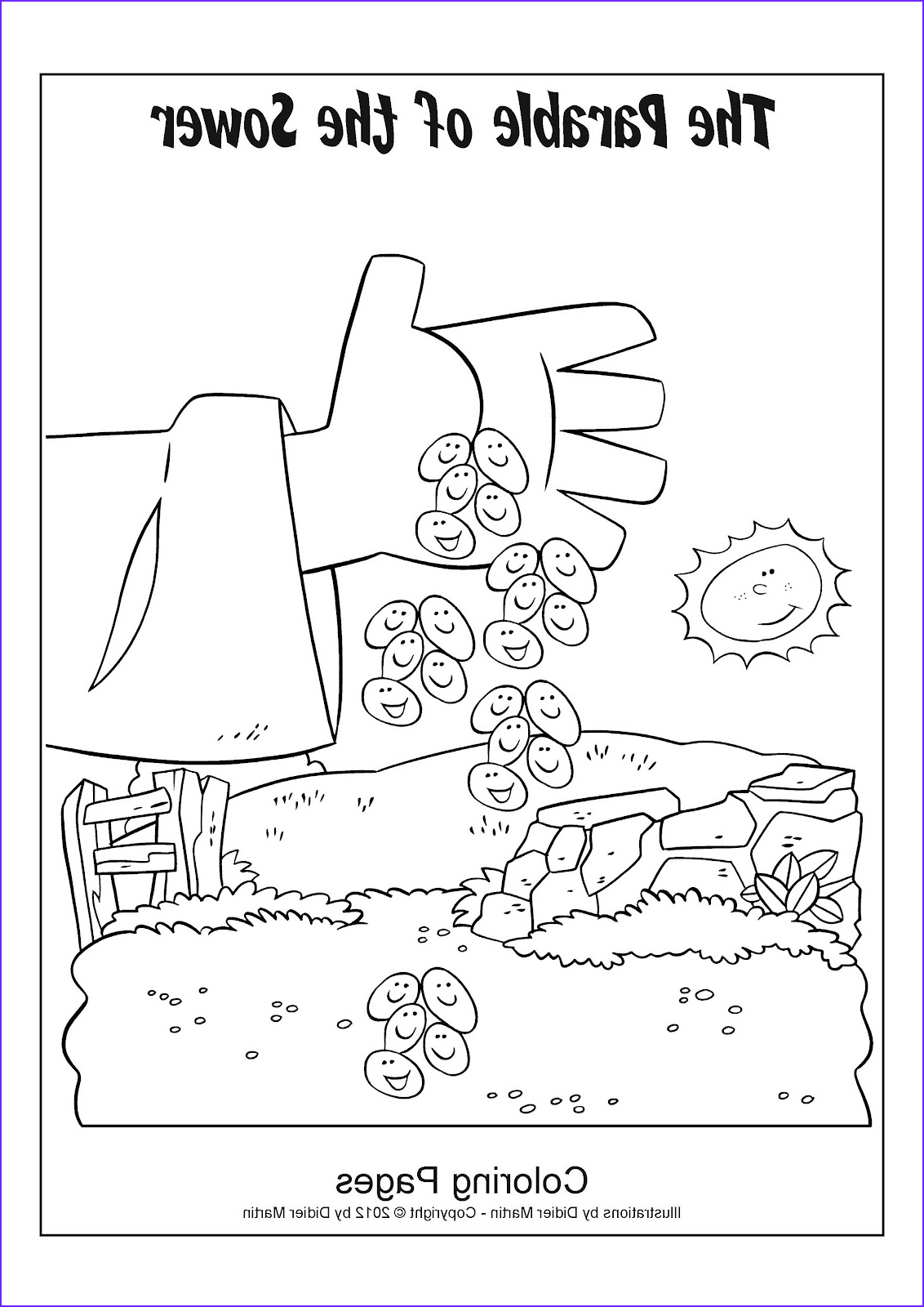 Parable Of the sower Coloring Page Inspirational Photos My Little House Bible Activity Pages the Parable Of the