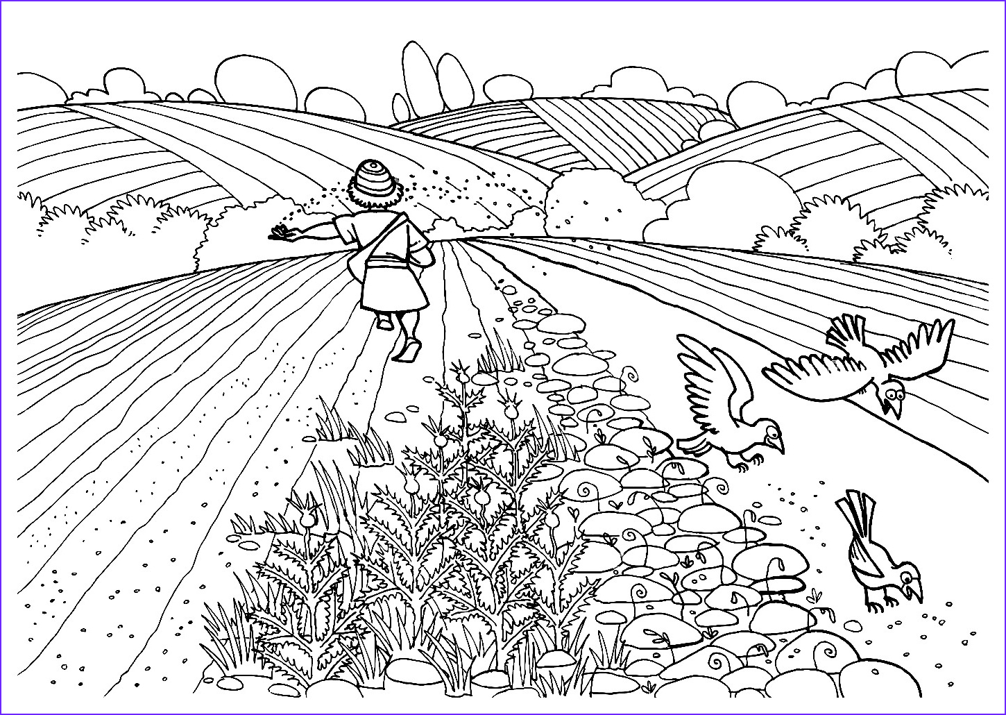 Parable Of the sower Coloring Page New Photos Free Christian Coloring Pages the Parables