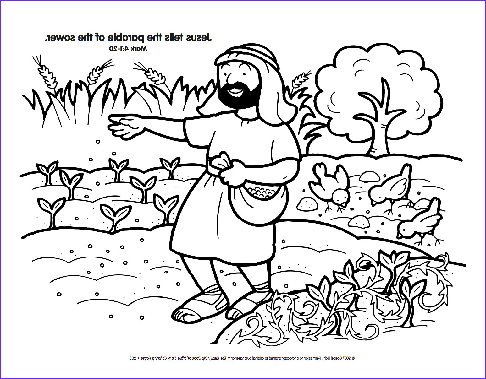 Parable Of the sower Coloring Page Unique Stock Free Christian Coloring Pages the Parables