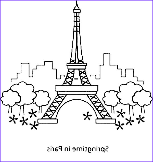 Paris Coloring Book Beautiful Photos Eiffel tower Coloring Pages