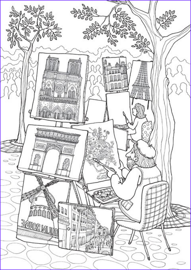 Paris Coloring Book Beautiful Stock 45 Best Images About Paris Colouring and Doodling Journal