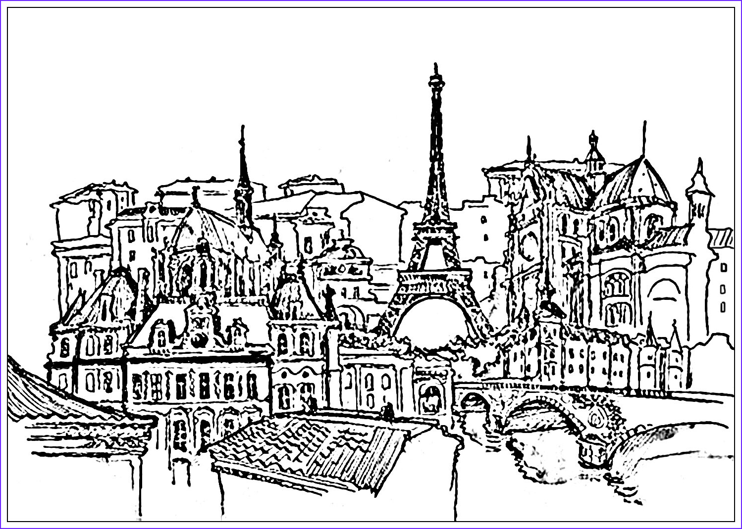 Paris Coloring Book Best Of Gallery Eiffel tower Coloring Pages for Adults