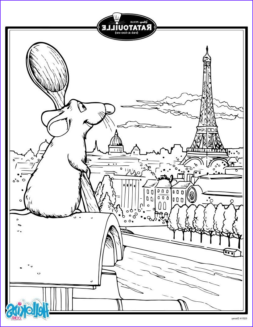 Paris Coloring Book Best Of Gallery Ratatouille S Remy In Paris Coloring Page
