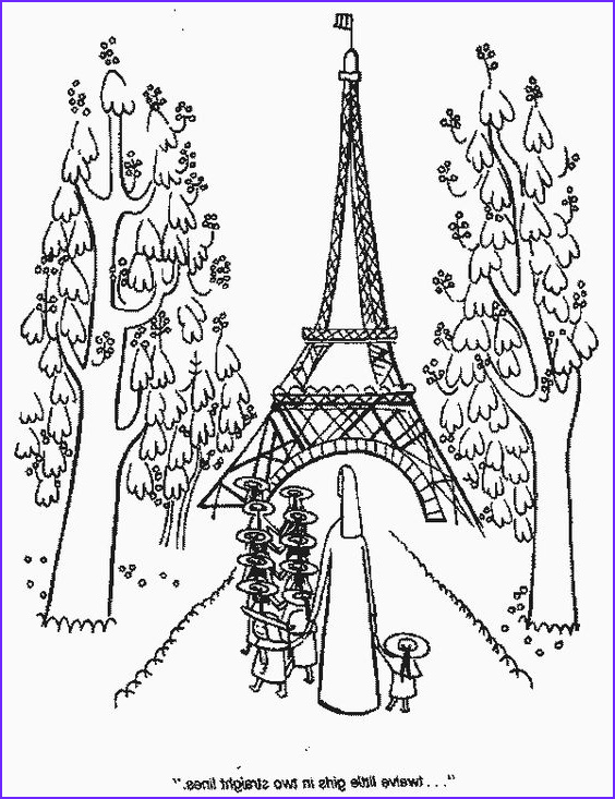 Paris Coloring Book Unique Collection Madeline at the Effle tower Coloring Pages