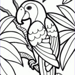 Parrot Coloring Pages Luxury Collection Parrot Coloring Pages Printable
