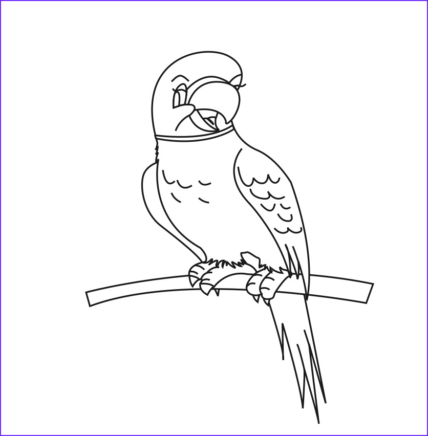 Parrot Coloring Pages New Photos Free Printable Parrot Coloring Pages for Kids