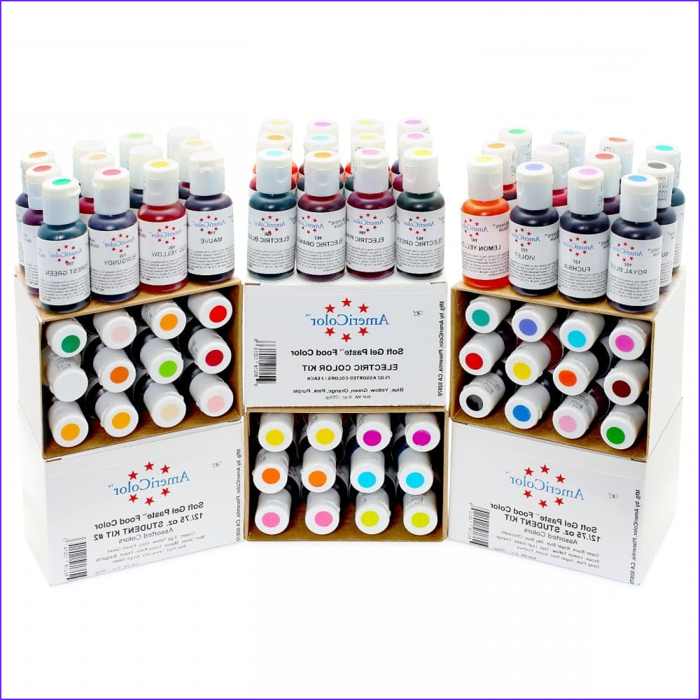 americolor bright white soft gel paste food icing buttercream colouring pp1942