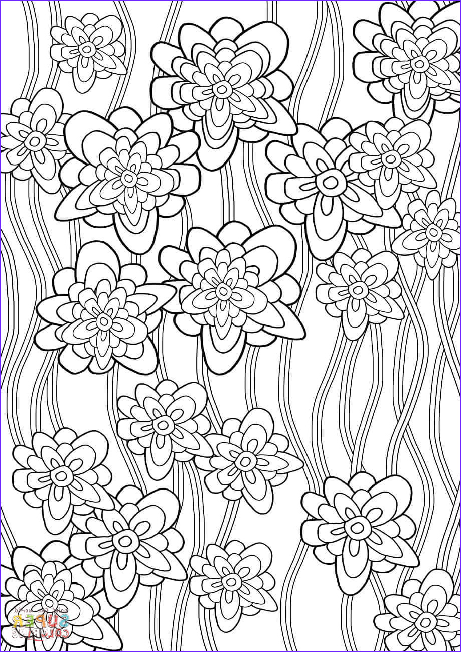 Pattern Coloring Awesome Photos Floral Pattern Coloring Page