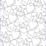 Pattern Coloring Best Of Photos Hearts and Stars Pattern Coloring Page