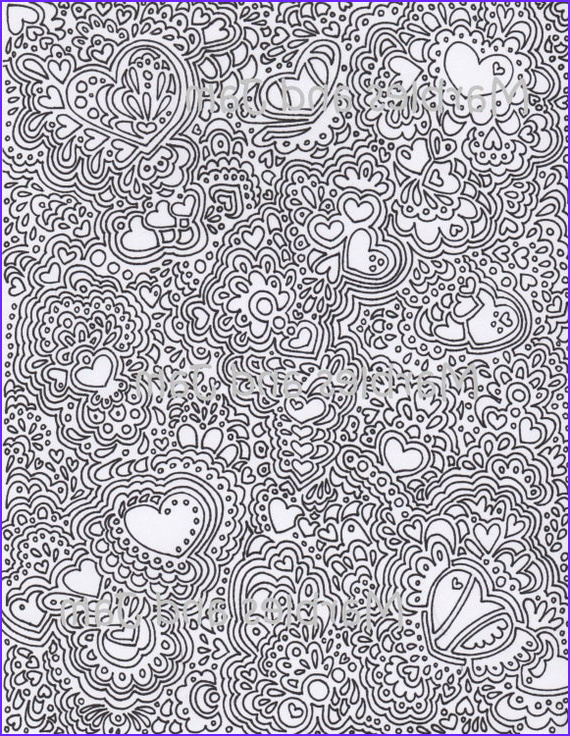 Pattern Coloring Books for Adults Beautiful Collection Abstract Hearts Printable Adult Coloring Page