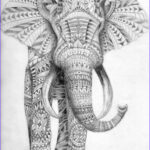 Pattern Coloring Books For Adults Beautiful Collection Tribal Elephant My Work Pinterest