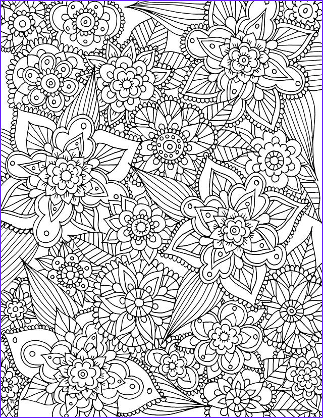 Pattern Coloring Books for Adults Beautiful Photos Alisaburke Free Spring Coloring Page