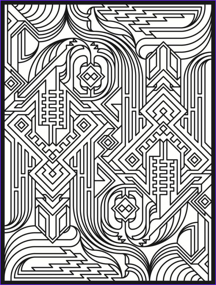 Pattern Coloring Books for Adults Cool Gallery 20 Free Printable Art Deco Patterns Coloring Pages for