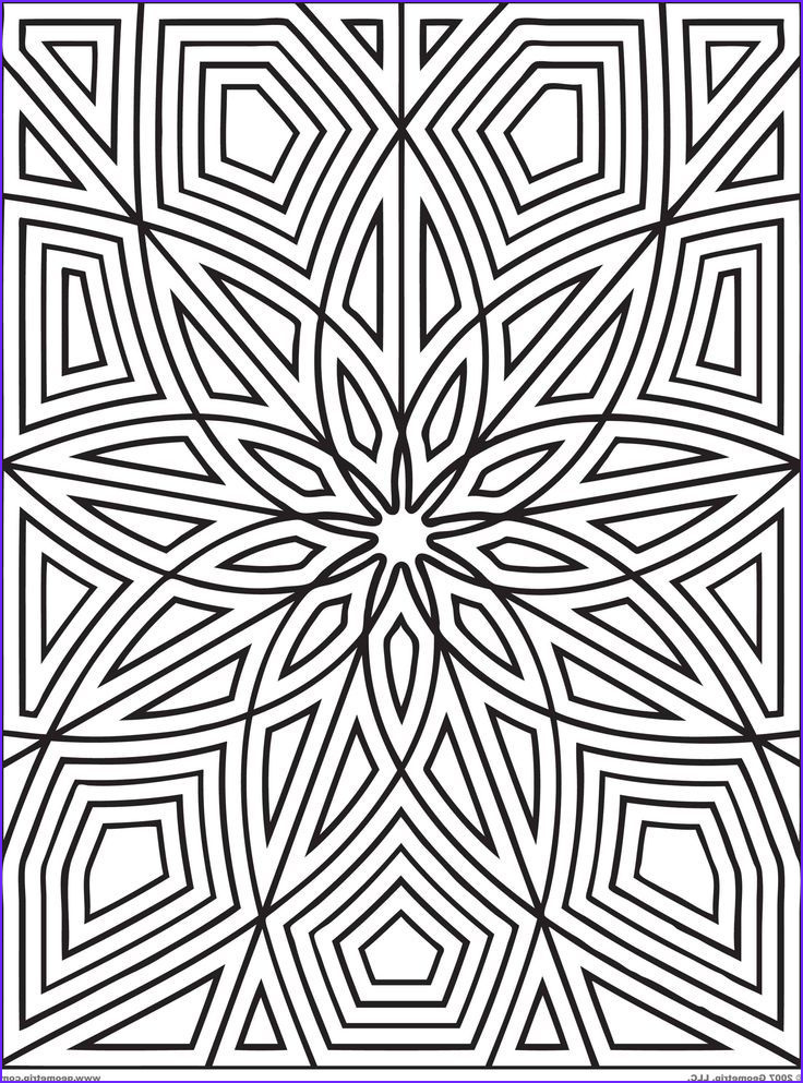 Pattern Coloring Books for Adults Cool Gallery 25 Best Geometric Coloring Patterns Images On Pinterest