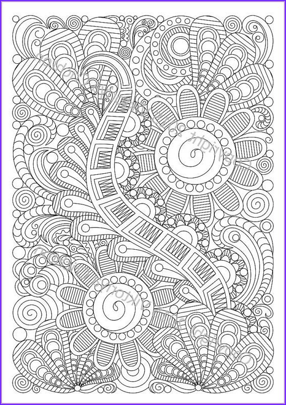 Pattern Coloring Books for Adults Inspirational Stock Zentangle Art Coloring Page 5 for Adult Zentangle