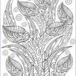 Pattern Coloring Cool Photos Floral Pattern Coloring Page