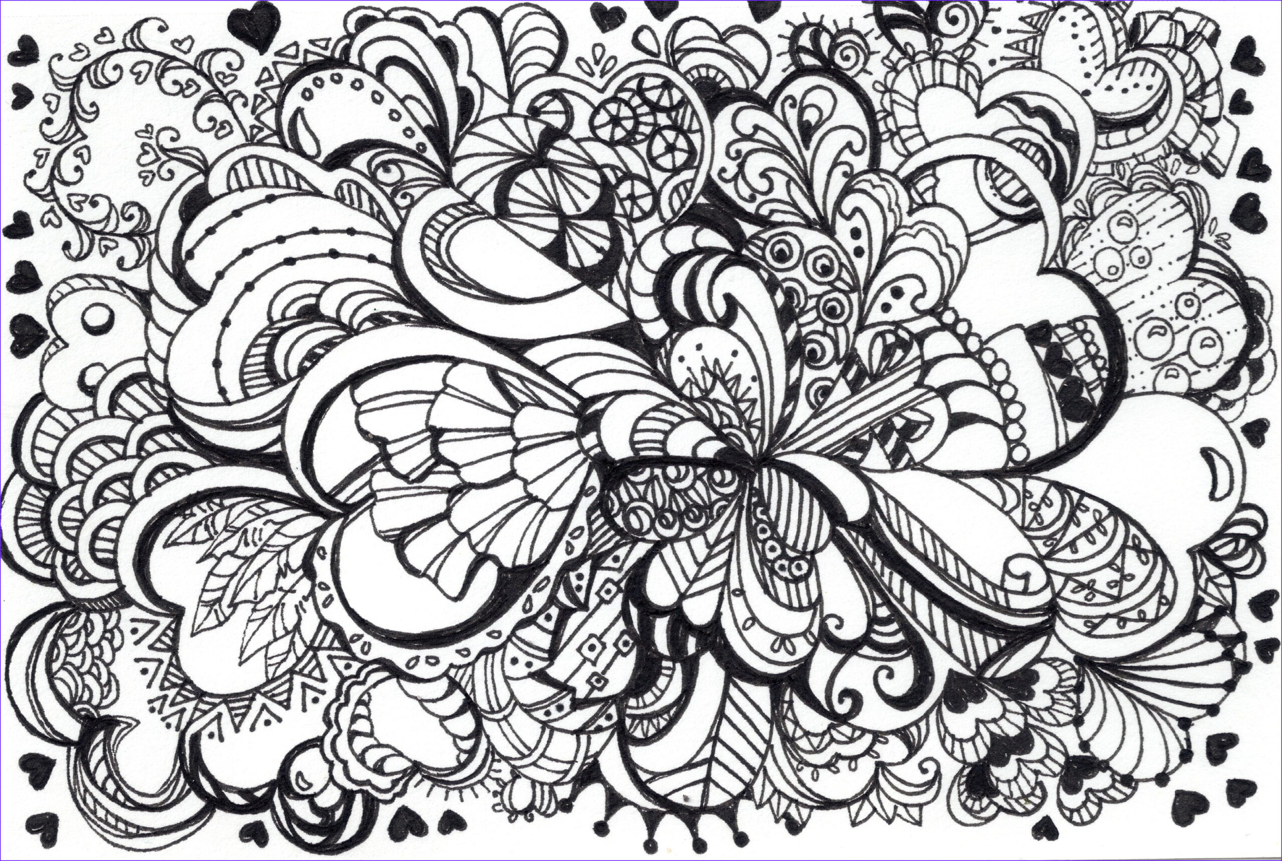 Pattern Coloring Inspirational Collection Zentangle