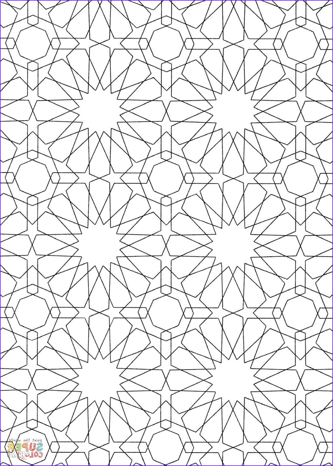 Pattern Coloring Luxury Stock islamic Pattern Coloring Page