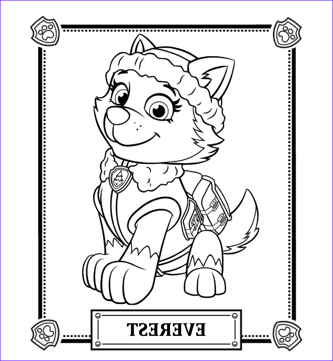 Paw Patrol Coloring Book Beautiful Collection Paw Patrol Coloring Pages Best Coloring Pages for Kids