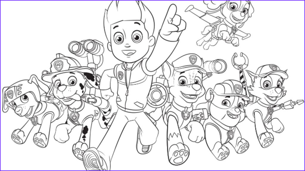 Paw Patrol Coloring Book Best Of Photos Paw Patrol Paw Patrol Group Colouring Pages for Preschoolers