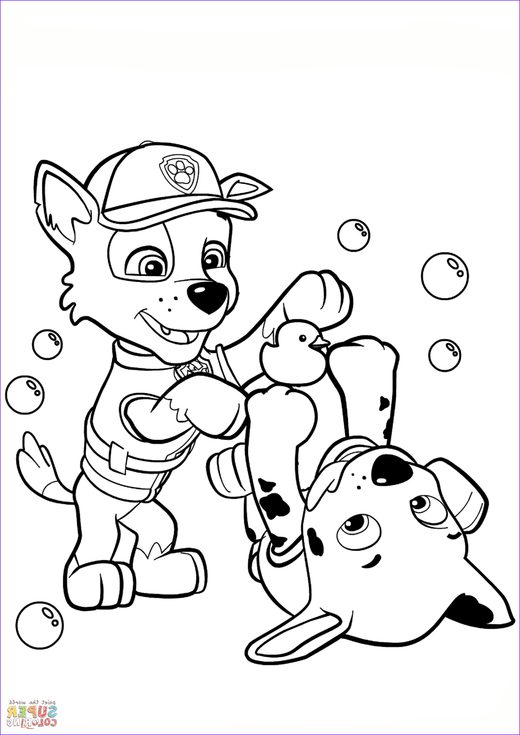 Paw Patrol Coloring Book Cool Photos Paw Patrol Rocky and Marshall Coloring Page