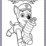 Paw Patrol Coloring Book Elegant Photos Chase Paw Patrol Coloring Pages To And Print For Free