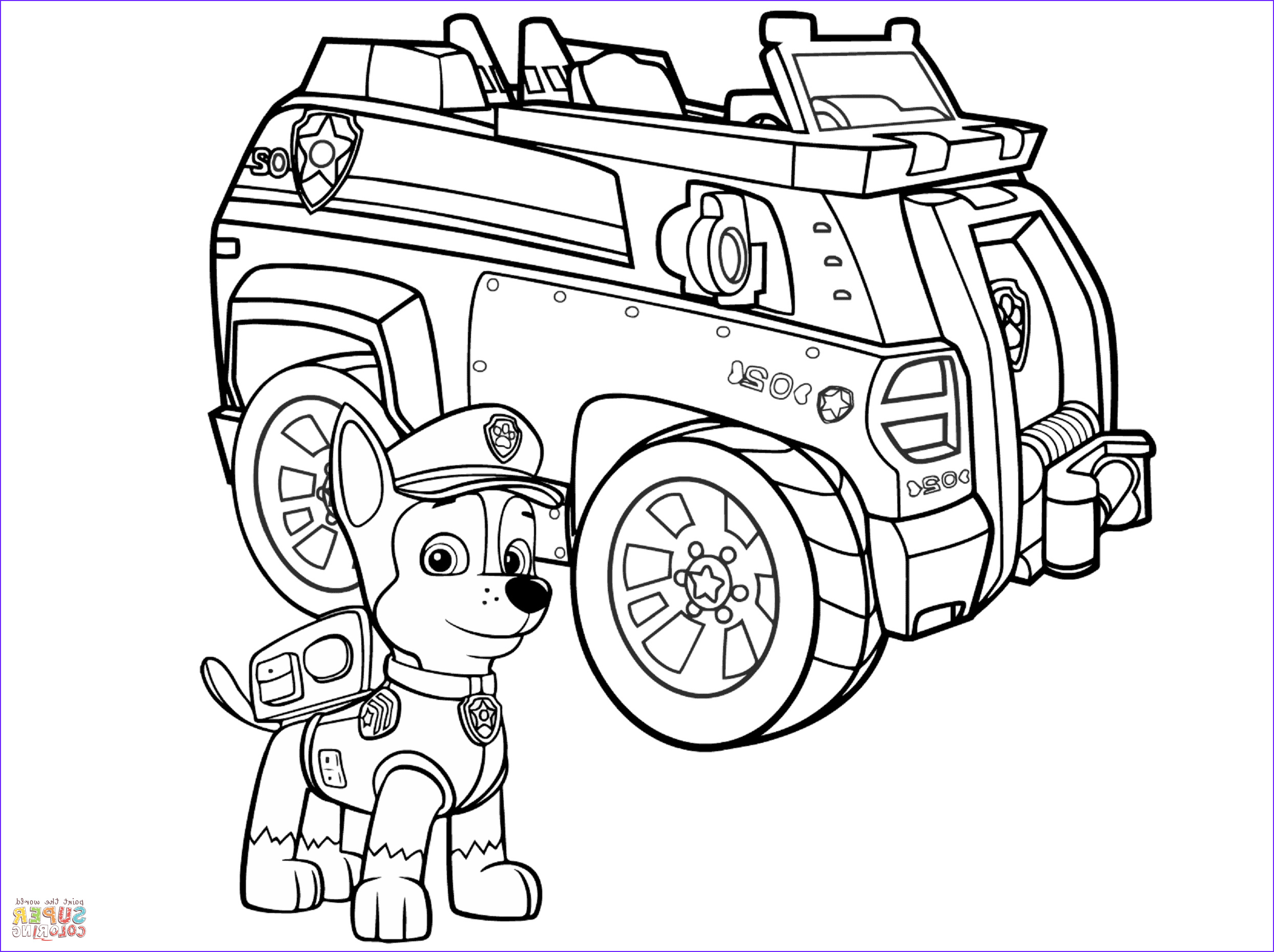 Paw Patrol Coloring Book Elegant Stock Paw Patrol Chase Police Car Coloring Page