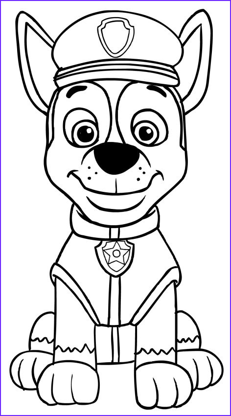 Paw Patrol Coloring Book Inspirational Gallery Paw Patrol Chase Coloring Pages Baby Crafts