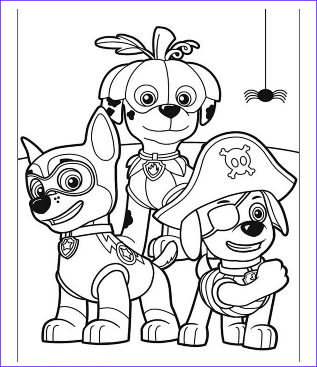 Paw Patrol Coloring Books Awesome Photos Paw Patrol On Halloween Coloring Pages Prente