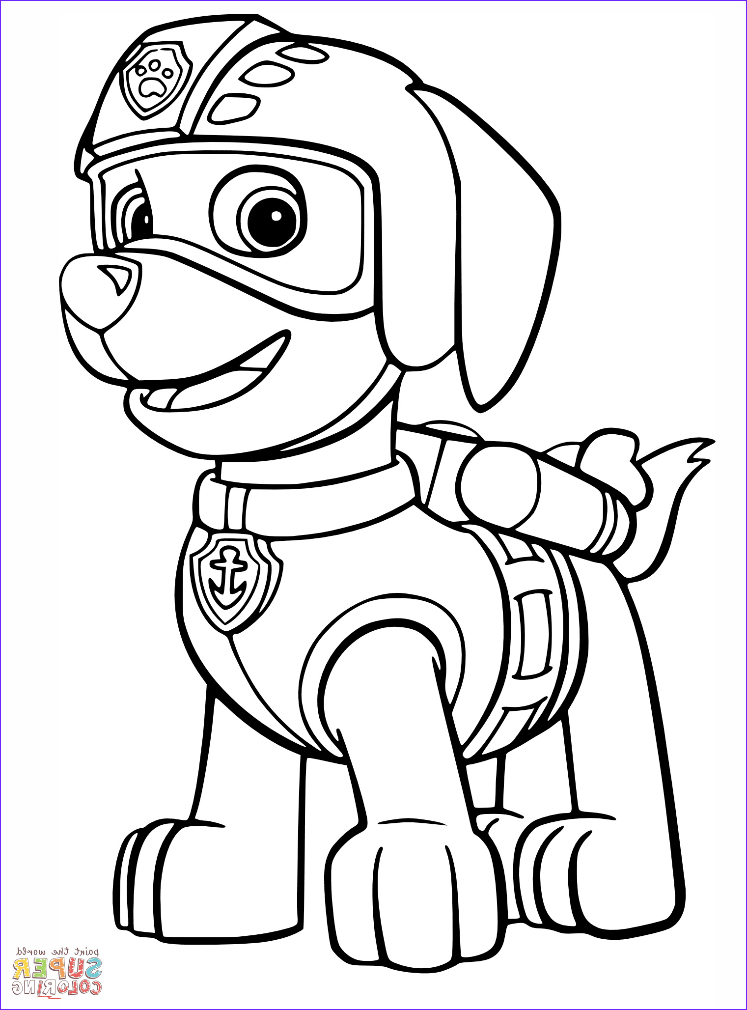 Paw Patrol Coloring Books Beautiful Images Paw Patrol Zuma Coloring Pages 01